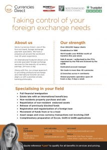 Currencies Direct Southwood Financial Planning Partner One Pager (with SFP Logo)