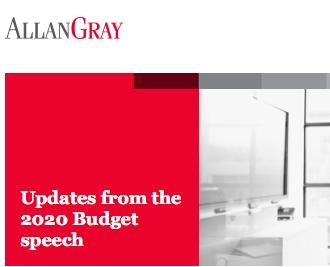 2020 Budget speech update